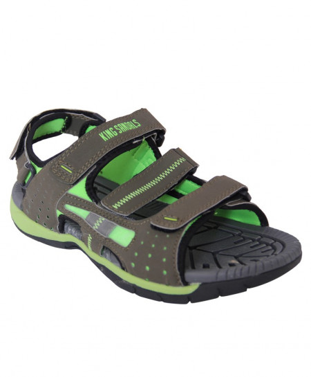 Khaki And Green Four Strap Casual Sandal SN-1520
