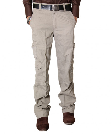 Khaki 8 Pocket Stylish Cargo Trouser