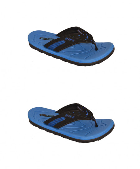 2X NK Blue Slippers SN-1199