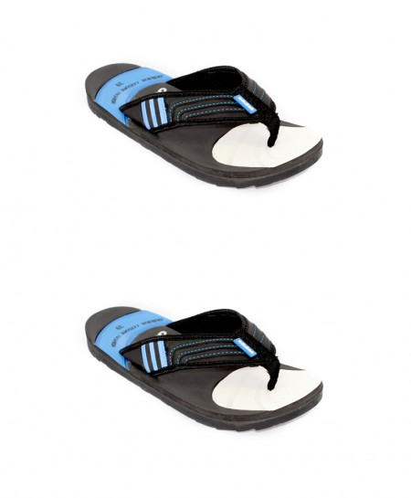 2X AD Black And Blue Flip Flop Slipper SN-943
