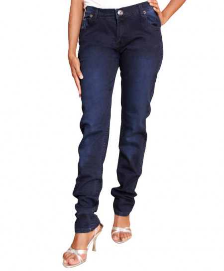 Dark Blue Skinny Fit Ladies Jeans