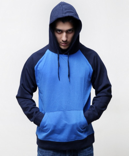 Royal Navy Contrast Stylish Hoodie ABS-65
