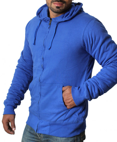 Royal Blue Jersey Inside Polyester Hoodie