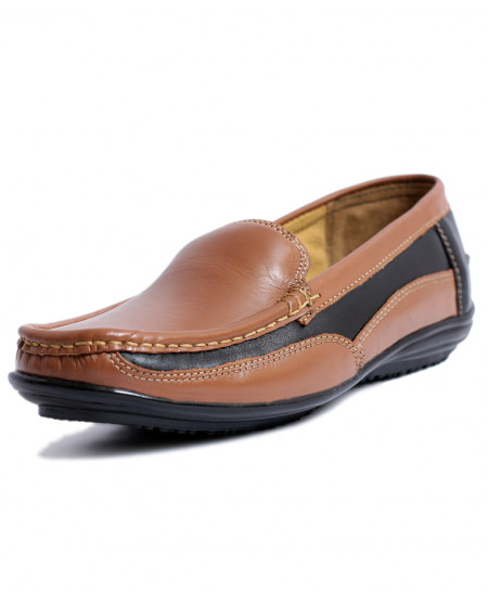 Mustard Black Loafer Womens Casual Shoes