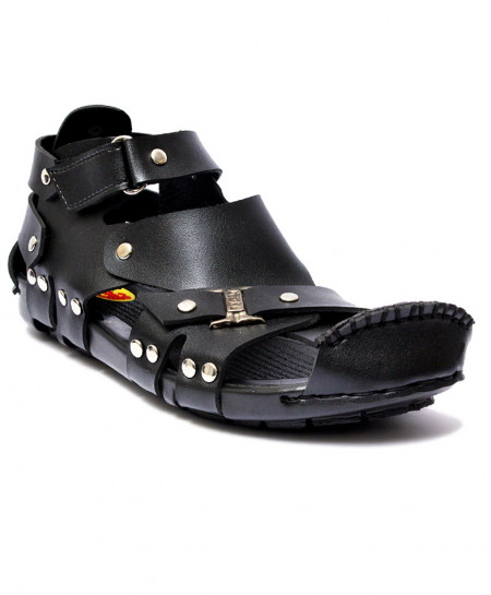 Black High Ankle Straps Casual Sandal RF-1003