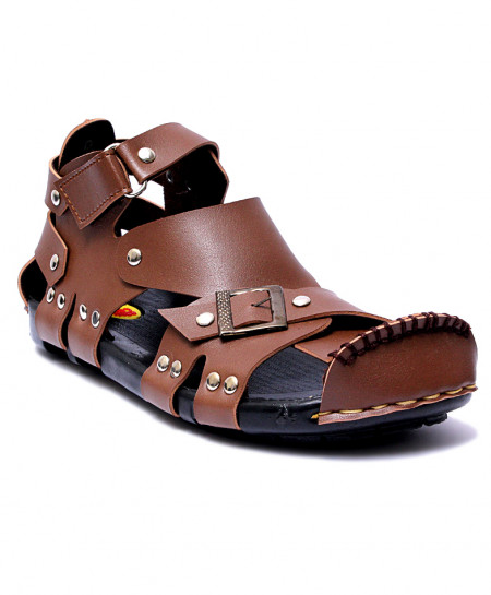 Brown High Ankle Straps Casual Sandal RF-1004