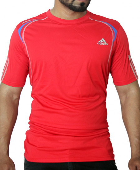 AD Blue Stripes Red Sport Shirt