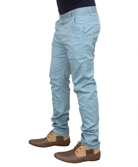 Sky Blue Stylish Chino Cotton Pants HG-1802