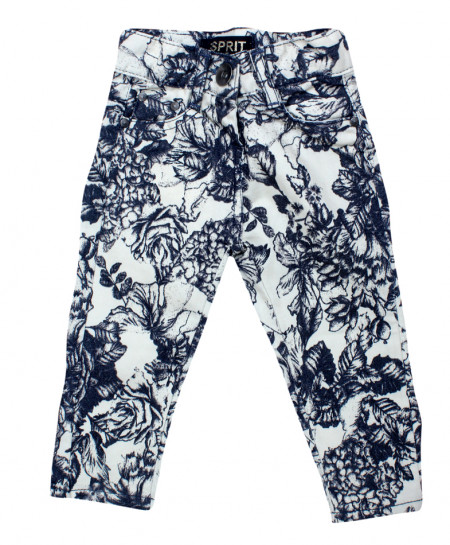 Blue Floral Stylish Baby Girl Pant