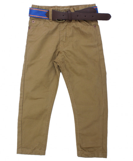 Khaki Boy Pant With Belt