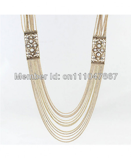 Gold Plated Long Royal Necklace