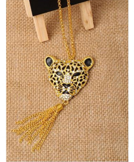 Tiger Shaped With Long Chain Pendant AM-P2