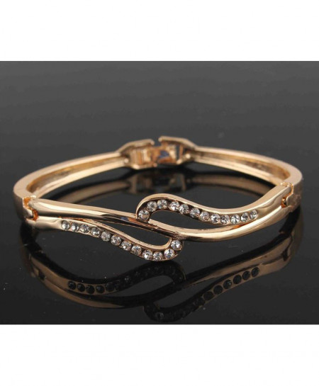 Fashionable Gold Filled Crystal Bracelet Bangle