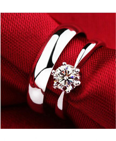 Buy Diamond Couple White Gold Ring online in Pakistan TechCity
