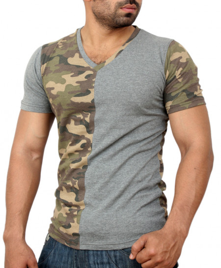 Camouflage Modern Style Cotton T-Shirt QZS-975