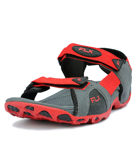 Flx Silver Red Stylish Sandal DR-4002