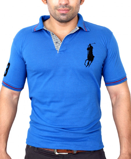 Big Pony Logo Blue Polo-Shirt