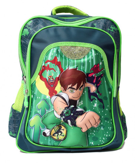 Ben 10 3DCartoon Double Shoulder School Backpack