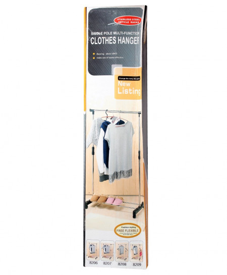 Single Pole Multi-Function Clothes Hanger