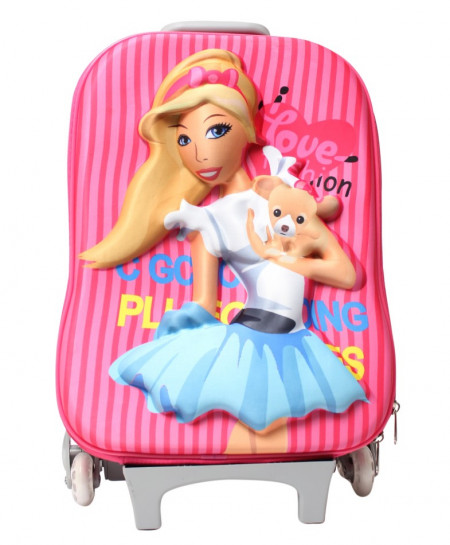 Barbie Cartoon 3D Luggage Bag For Kids