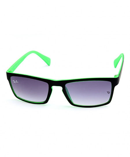 Ray B Wayfarer Style Black Green Sunglasses R2593T