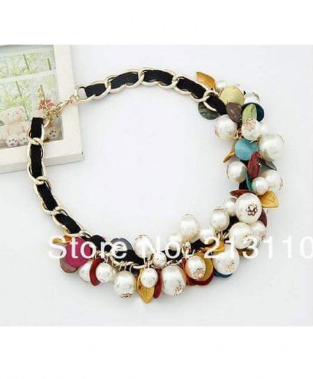 Pearl And Bead Stylish Necklace AM-N3