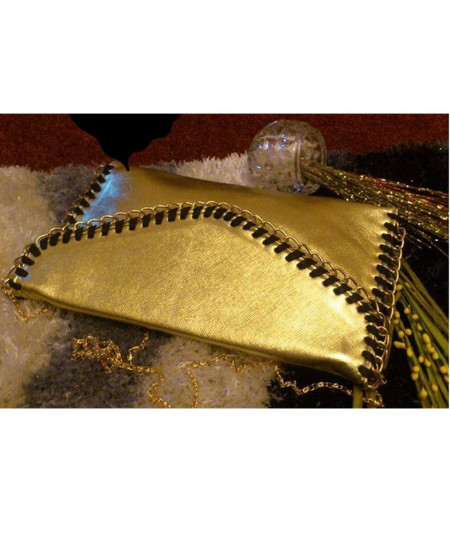 Golden Chain Style Ladies Clutch