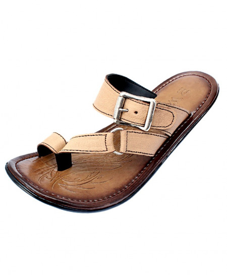 Brown Toe Loop Buckle Strap Stylish Slipper CR-5051