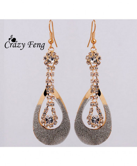 Gold Stylish Long Earring AM-005