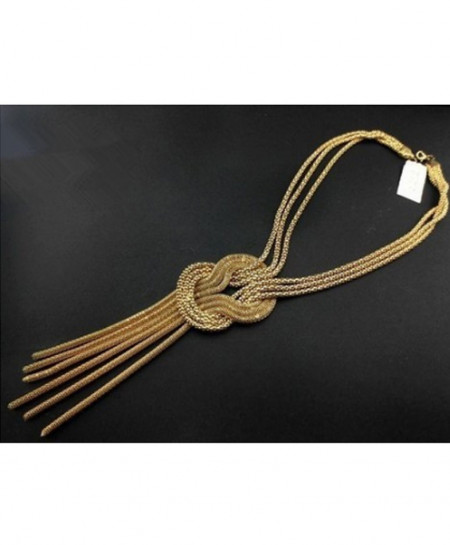 Gold Long Stylish Necklace AM-021