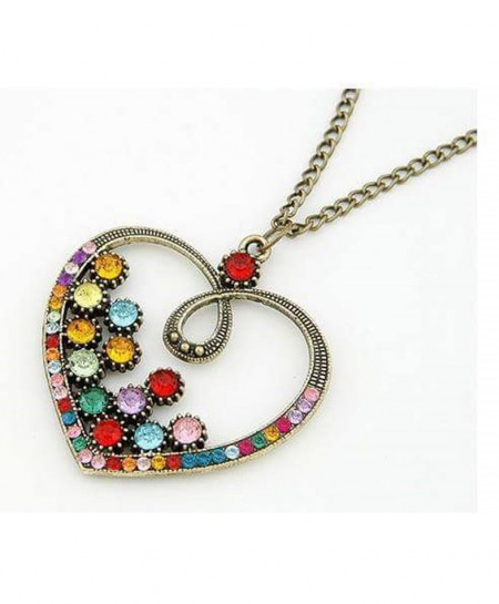Heart Style Stone Necklace AM-027
