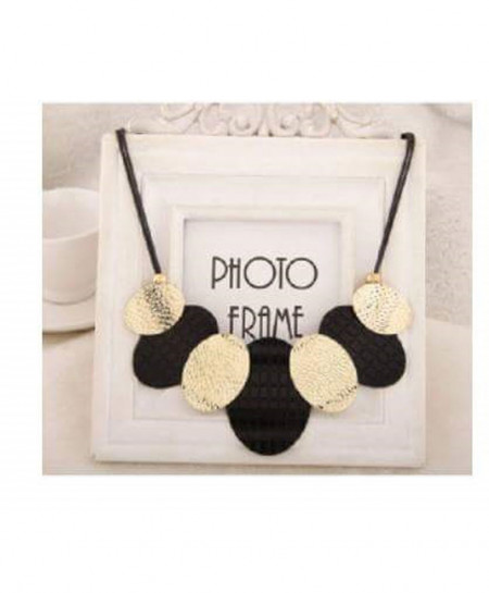 Black And Golden Stylish Necklace AM-029