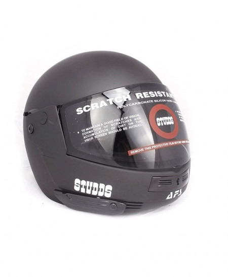 Studds Ninja Pastel Black Plain Sports Helmet