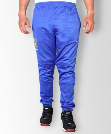CBF Brasil Blue Sport Trousers With White Strip