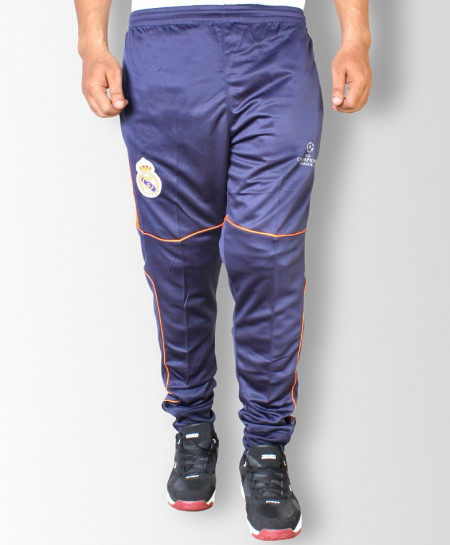 Real Madrid NavySport Trousers With Orange Strips