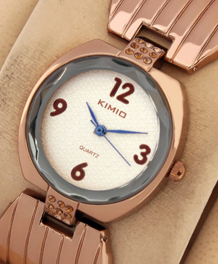 Kimio Diamante Copper Bracelet Watch
