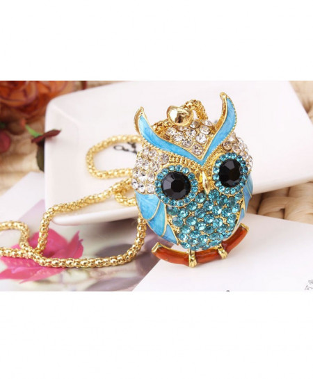 Rhinestone Owl Stylish Pendant AM-035