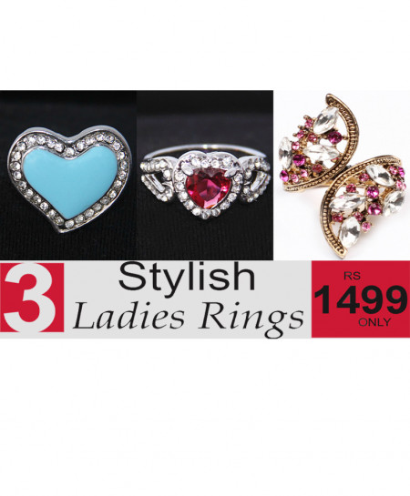 Stylish Ladies Rings Bundle-3