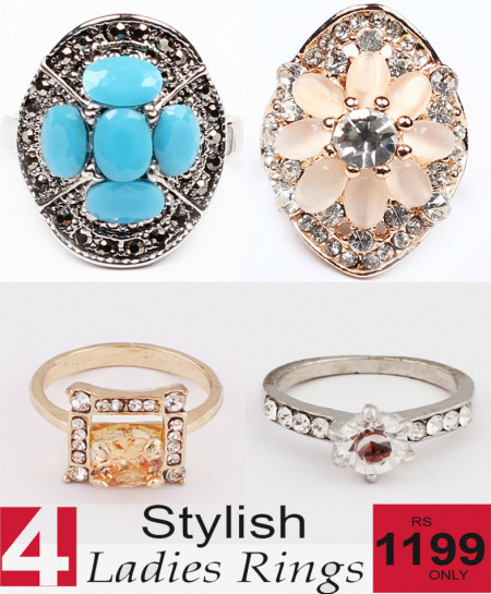 Stylish Ladies Rings Bundle-4