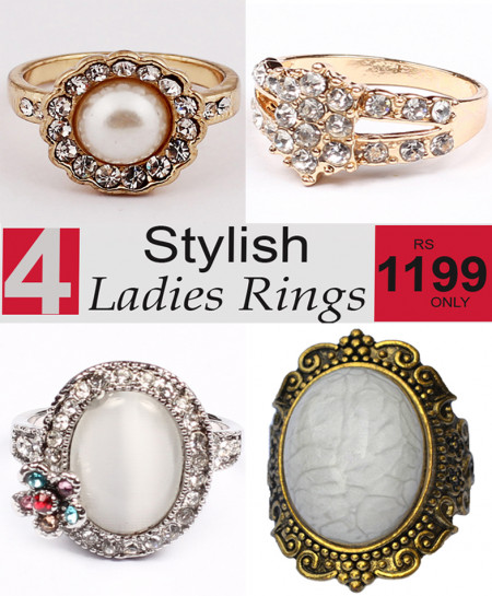 Stylish Ladies Rings Bundle-5