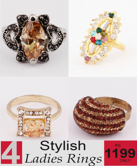 Stylish Ladies Rings Bundle-10