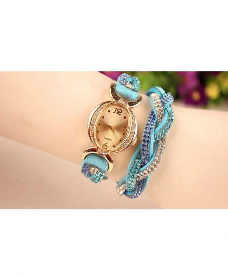 Blue Cross Strap Ladies Watch AM-070