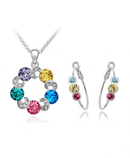 White Gold Plated Jewelery Set AM-072