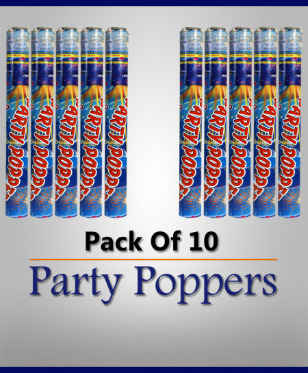 Pack of 10 Party Poppers