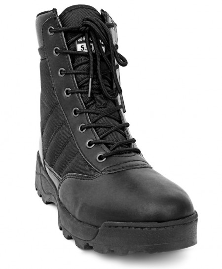 S.W.A.T Black Original Chase 9 Side-Zip Boots DR-074