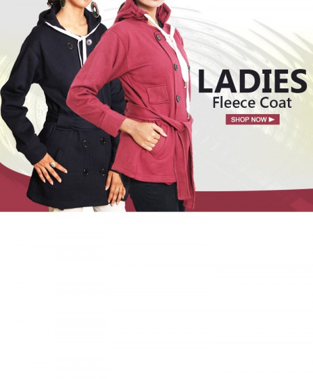 Pack of 2 Stylish Ladies Fleece Coat