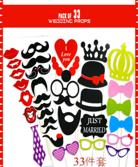 Pack Of 33 Party Props