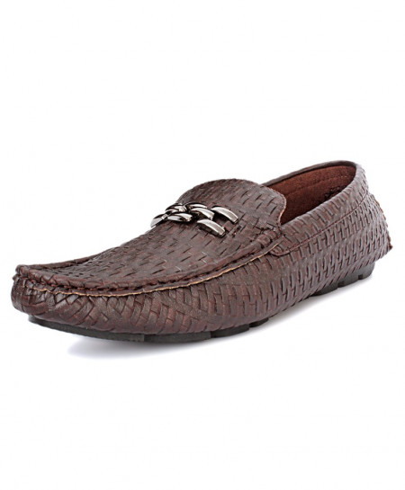 Choco Brown Fashionable Loafer Shoes DR-131