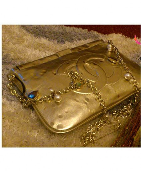 CN Golden Bridal Clutch AM-113