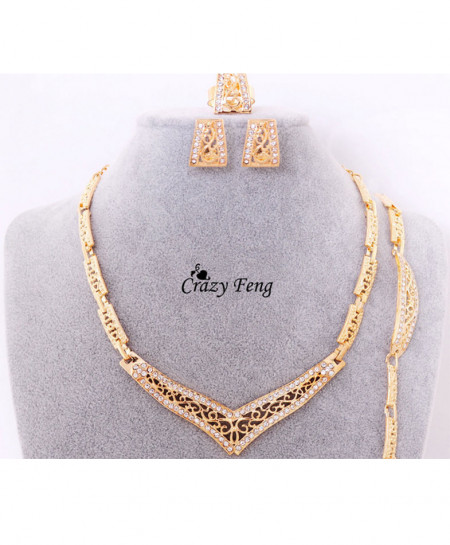 Bridal Stylish Gold Plated Set AM-132